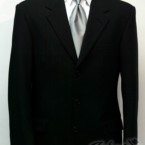 Black 3 Button Suit